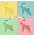 Goat symbol of 2015 vector