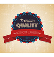 Old round retro vintage grunge label vector