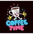 Cartoon coffee cup character vector