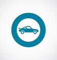 Sport car icon bold blue circle border vector