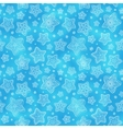 Blue hand-drawn snowflakes seamless pattern vector