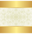 Creamy and gold background vector
