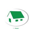 Eco house art vector