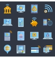 Mobile banking icons vector