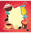 Sweets card vector