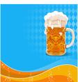 Oktoberfest beer background vector