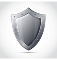 Blank shield business protection emblem vector