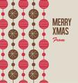 Merry christmas card with christmas balls vector