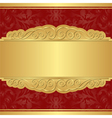 Gold and red background vector