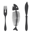 Cutlery knife fork fish - vector