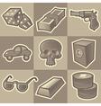 Monochrome gangsta icons vector