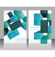 Set banners with 3d cubes background vector