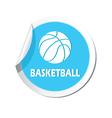 Basketball blue label vector