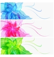 Triple eps10 colorful flower background vector
