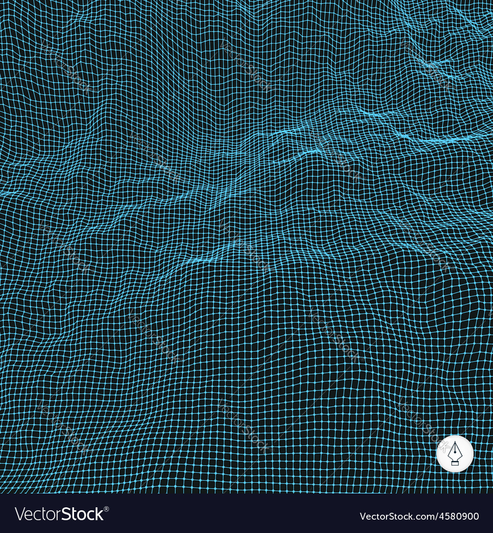 Abstract grid background water surface vector   Price: 1 Credit (USD $1)