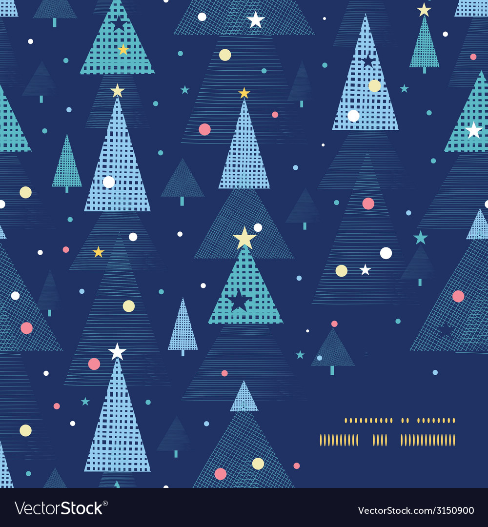 Abstract holiday christmas trees frame corner vector   Price: 1 Credit (USD $1)