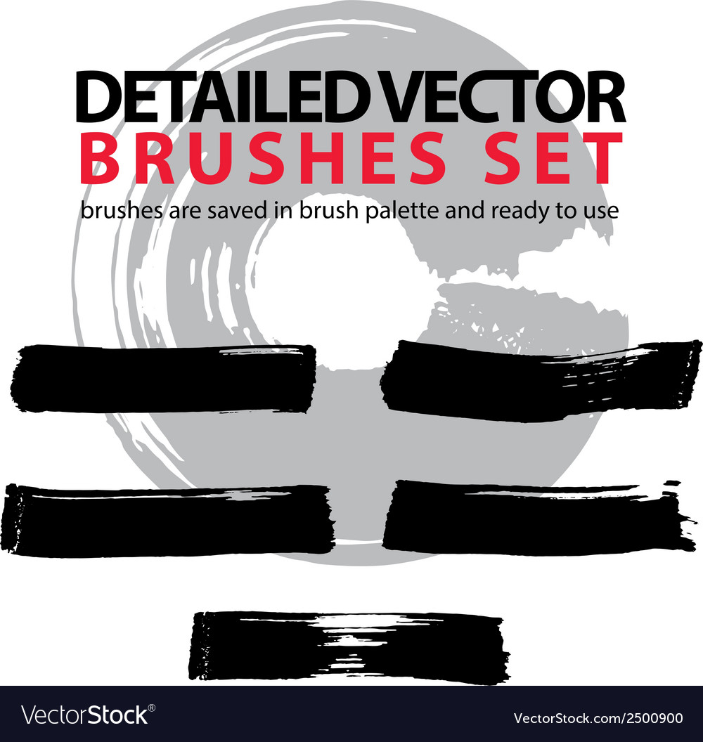 Brush strokes palette set of black hand-drawn vector | Price: 1 Credit (USD $1)