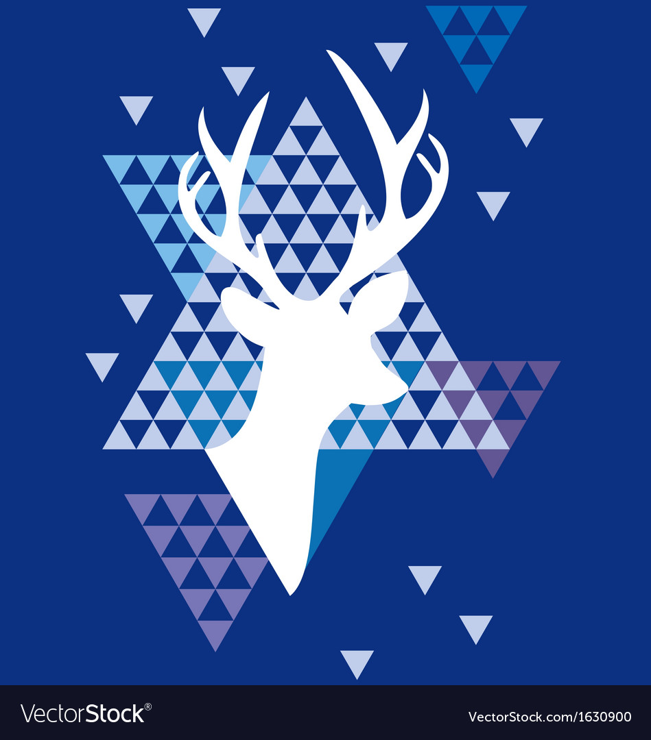 Christmas deer with triangle pattern vector | Price: 1 Credit (USD $1)