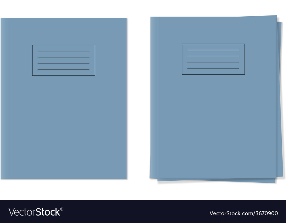 Exercise books vector | Price: 1 Credit (USD $1)