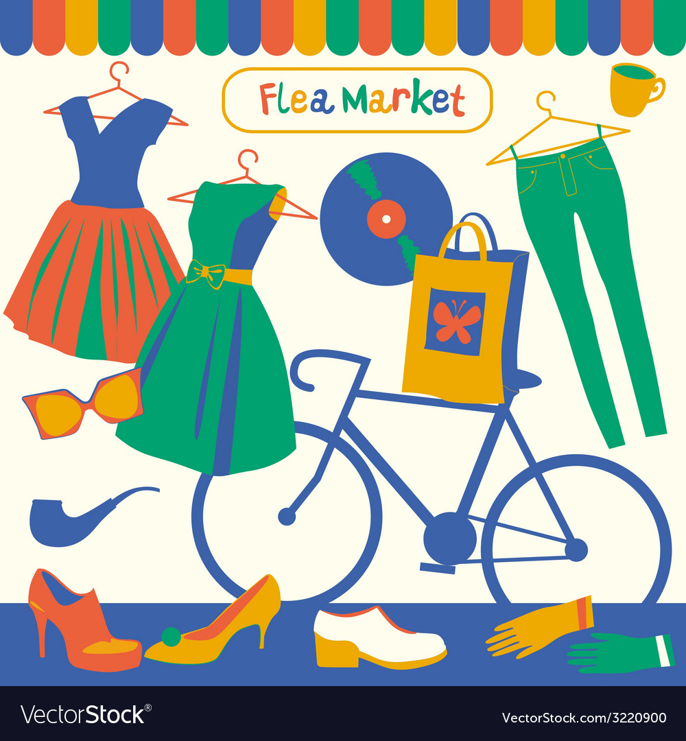 Flea market garage sale vector | Price: 1 Credit (USD $1)