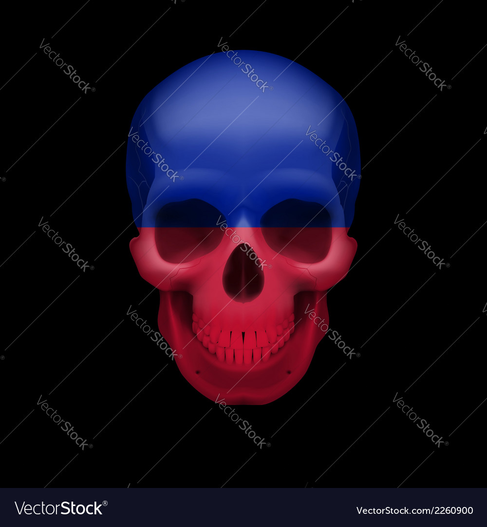 Haitian flag skull vector | Price: 1 Credit (USD $1)