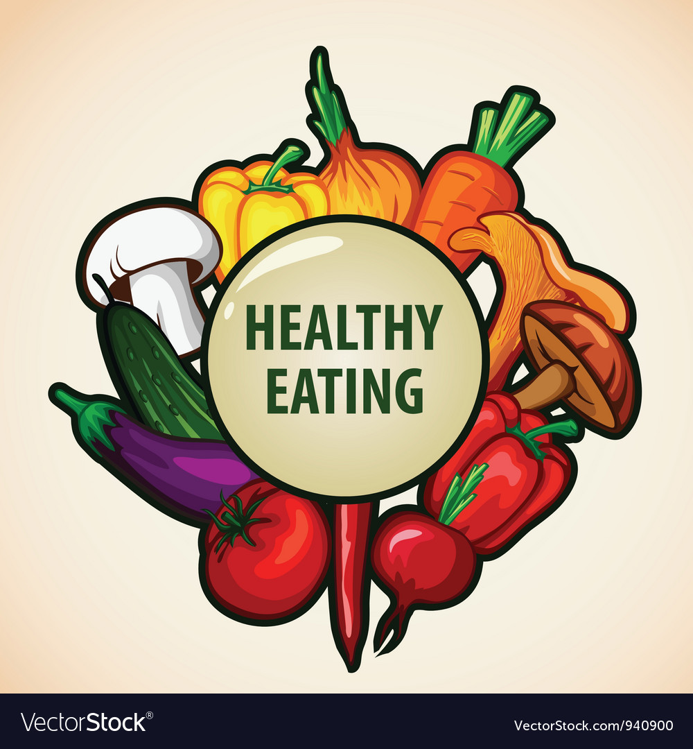 Healthy food menu vector | Price: 3 Credit (USD $3)