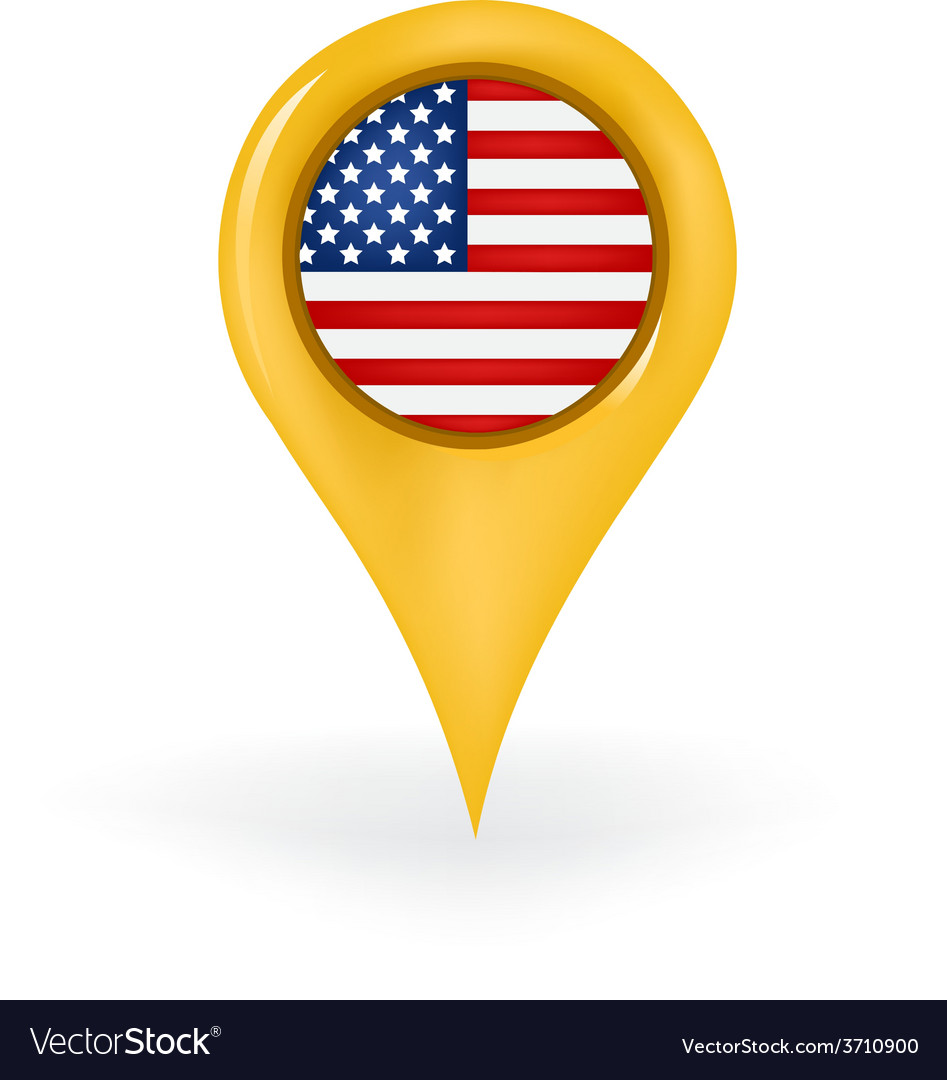 Location america vector | Price: 1 Credit (USD $1)