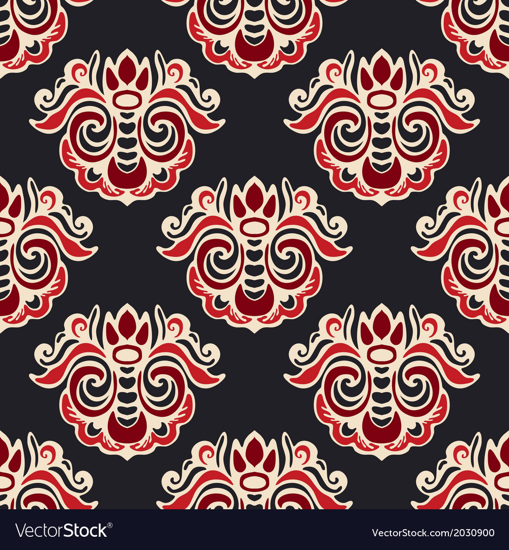 Luxury royal seamless pattern damask vector | Price: 1 Credit (USD $1)