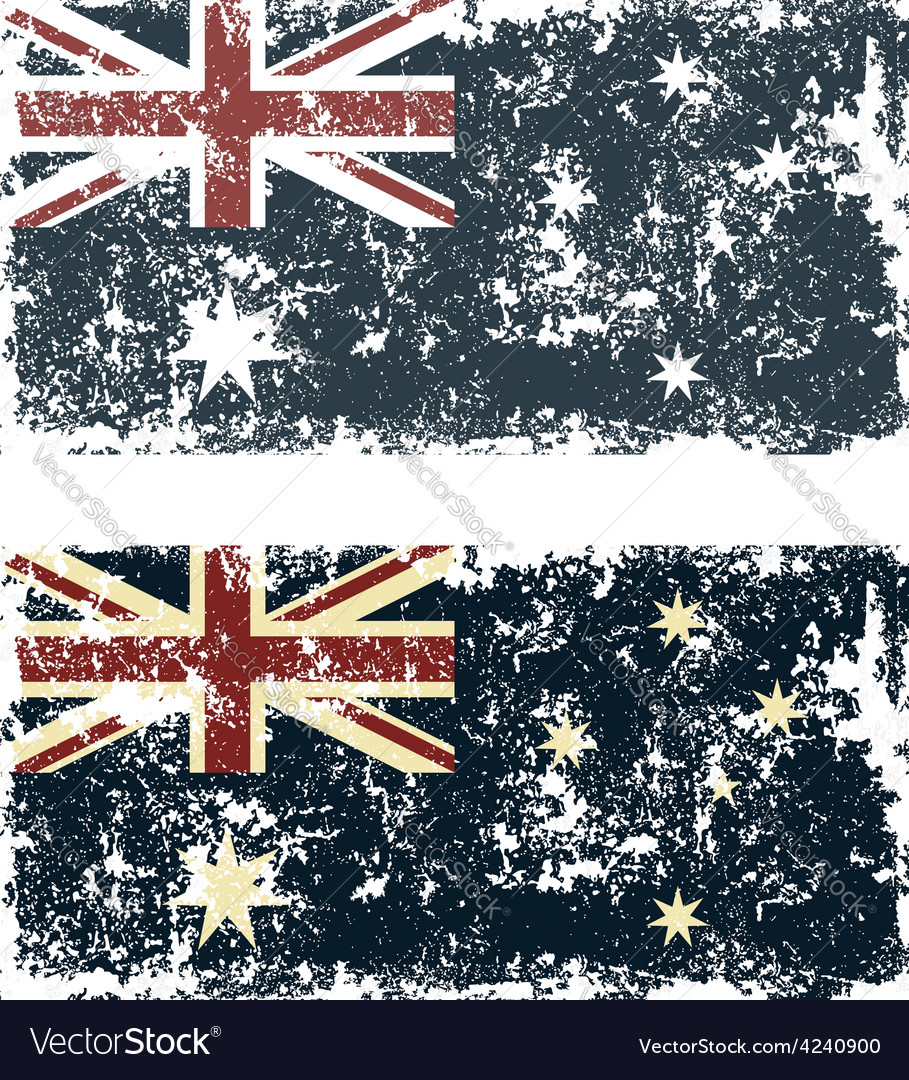 Old scratched flag vector | Price: 1 Credit (USD $1)
