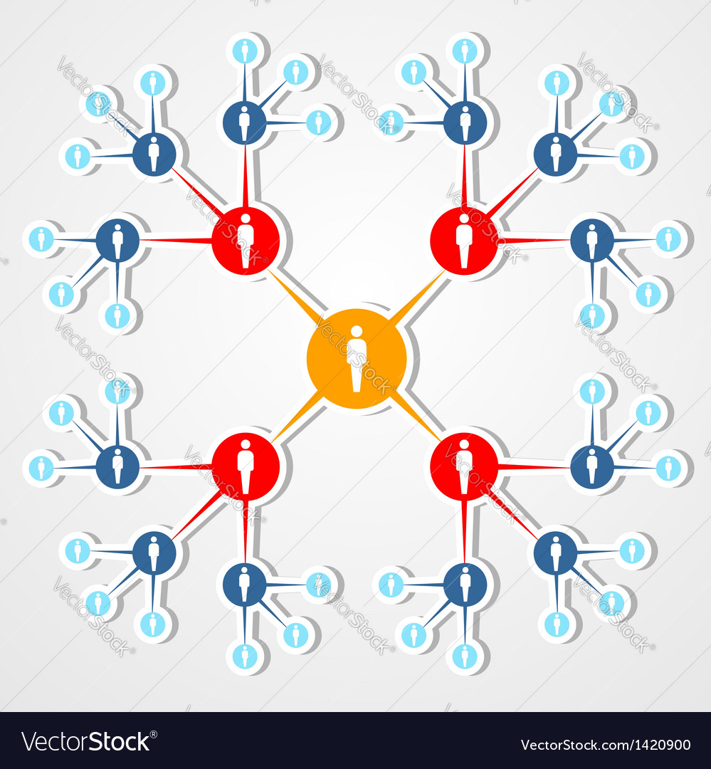 Social web network marketing diagram vector | Price: 1 Credit (USD $1)