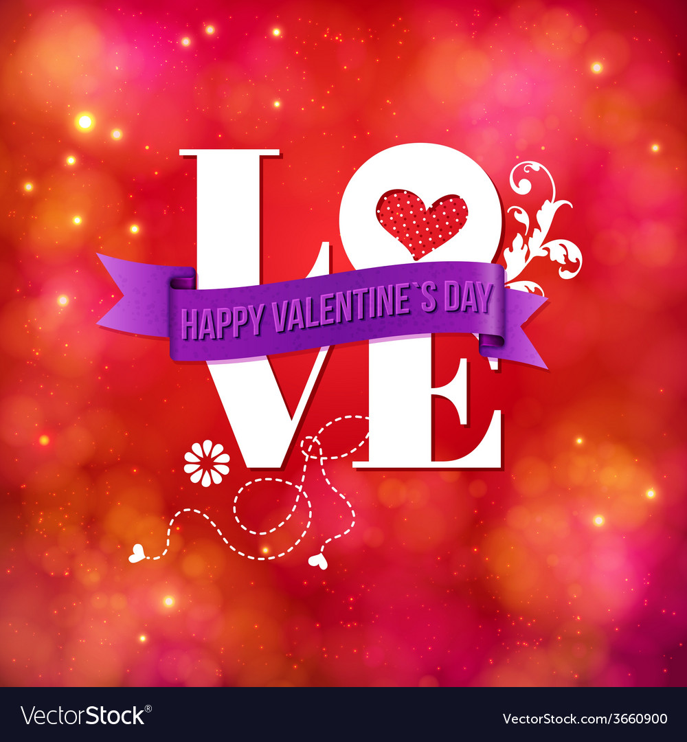 Valentines card design for a sweetheart vector | Price: 1 Credit (USD $1)