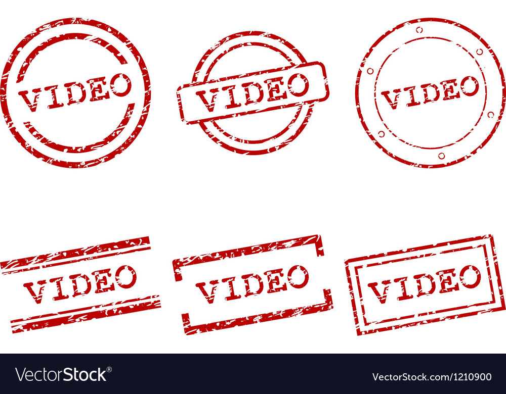 Video stamps vector | Price: 1 Credit (USD $1)