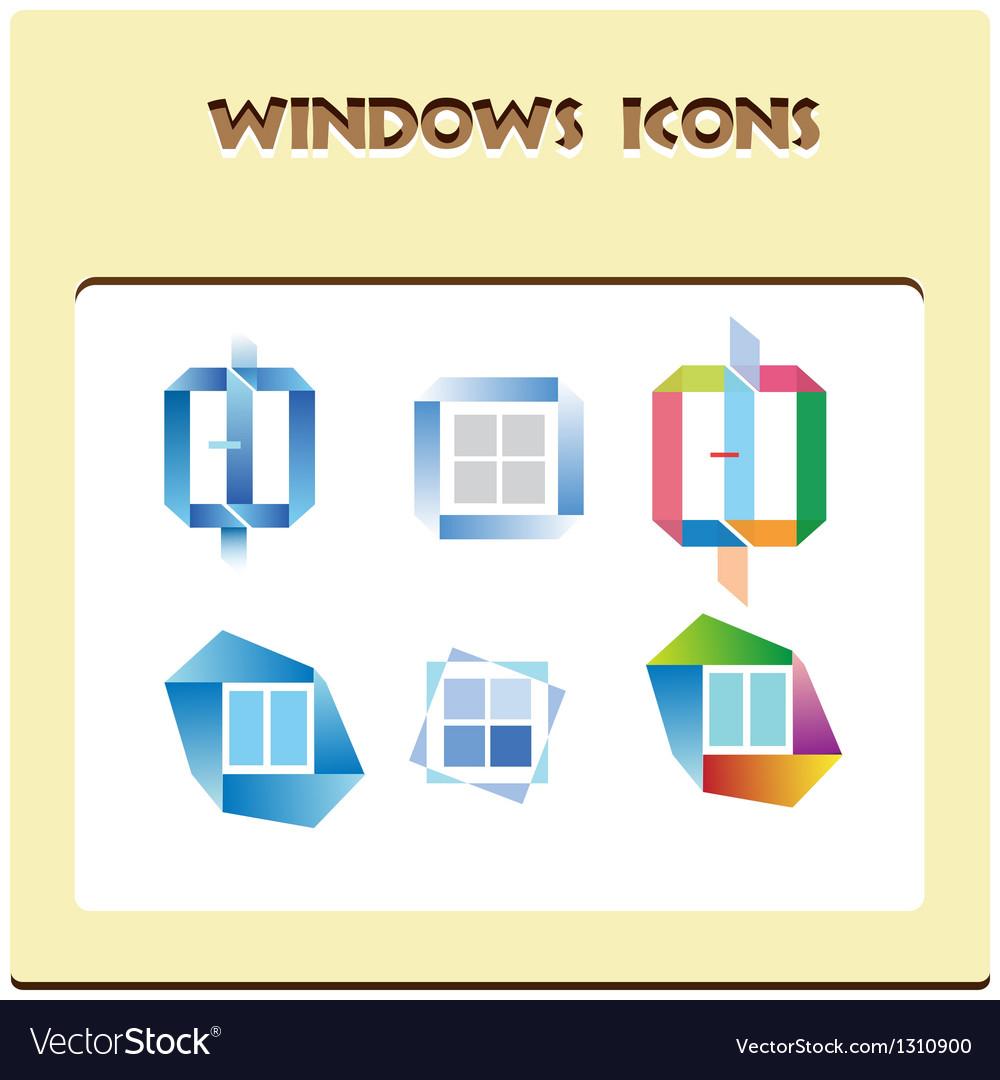 Windows icons vector | Price: 1 Credit (USD $1)