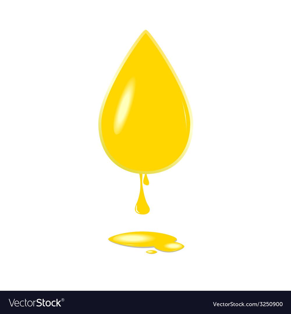 Yellow drop color vector | Price: 1 Credit (USD $1)