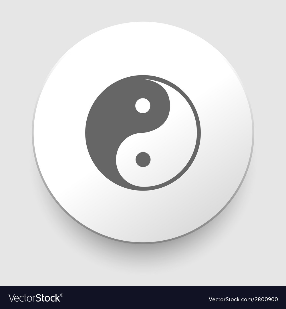 Yin and yang symbol vector | Price: 1 Credit (USD $1)