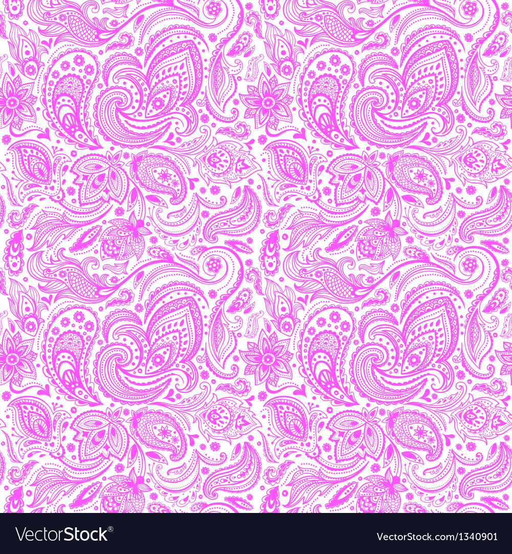 Beautiful paisley seamless vector | Price: 1 Credit (USD $1)