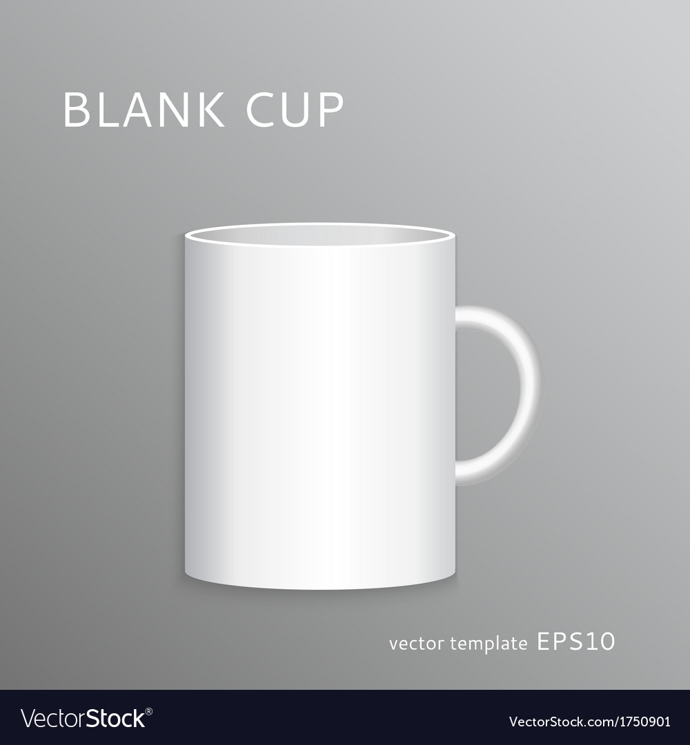 Blank cup vector | Price: 1 Credit (USD $1)