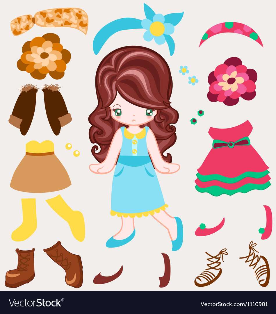 Dress up vintage style vector | Price: 1 Credit (USD $1)