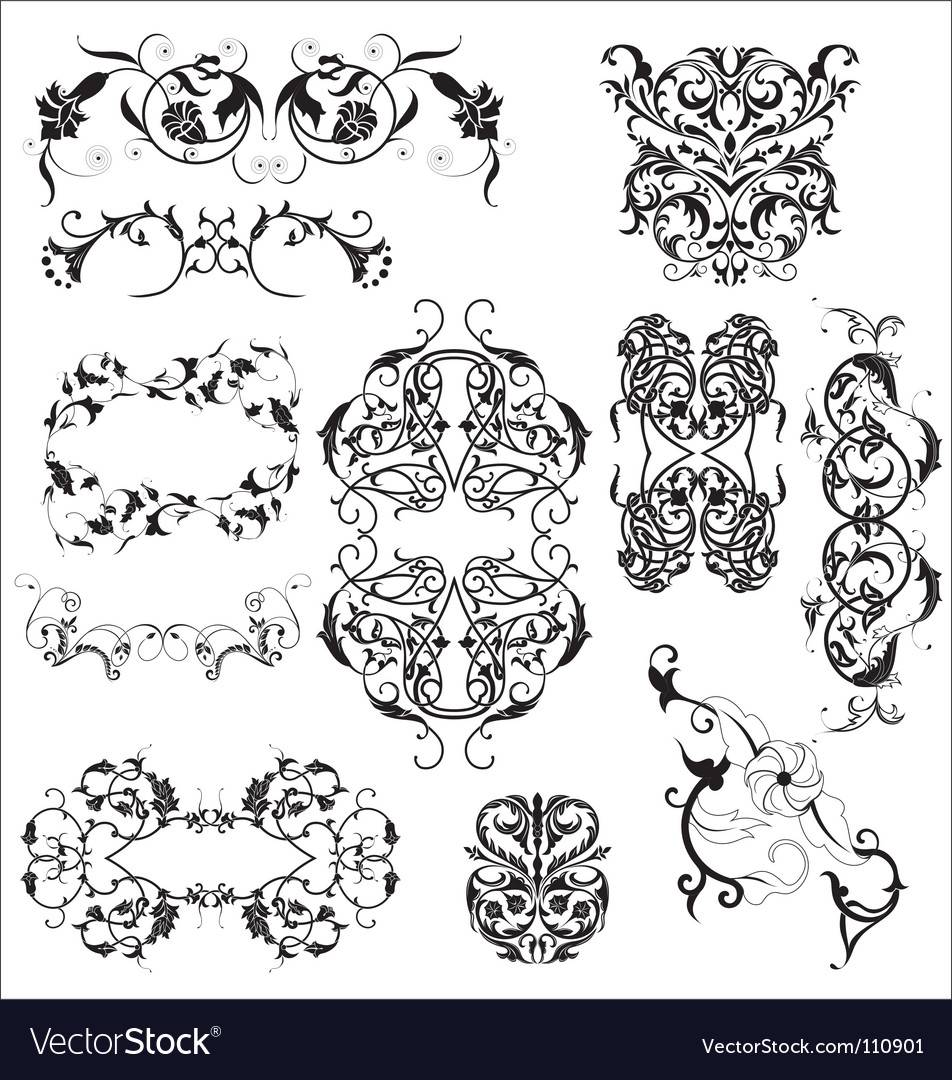Floral elements vector   Price: 1 Credit (USD $1)