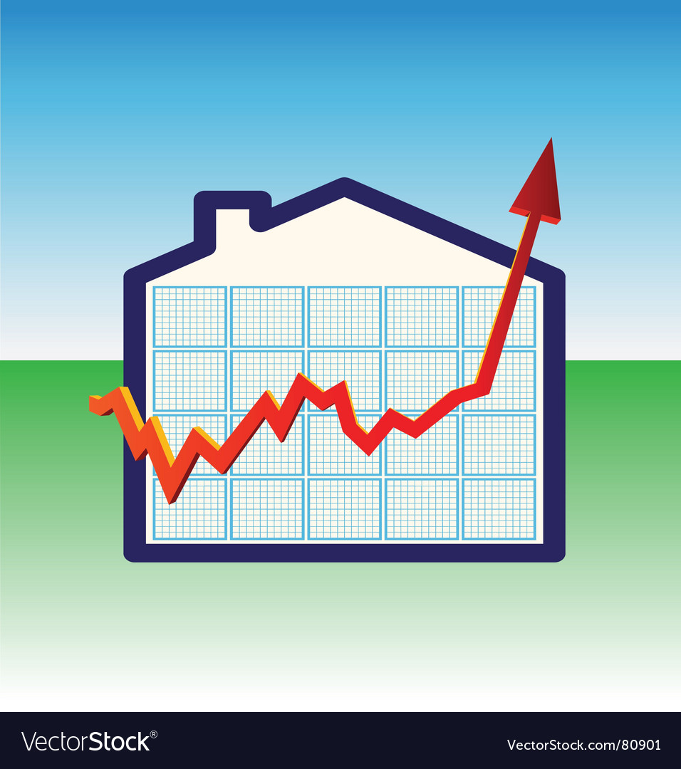 House prices graph vector | Price: 1 Credit (USD $1)