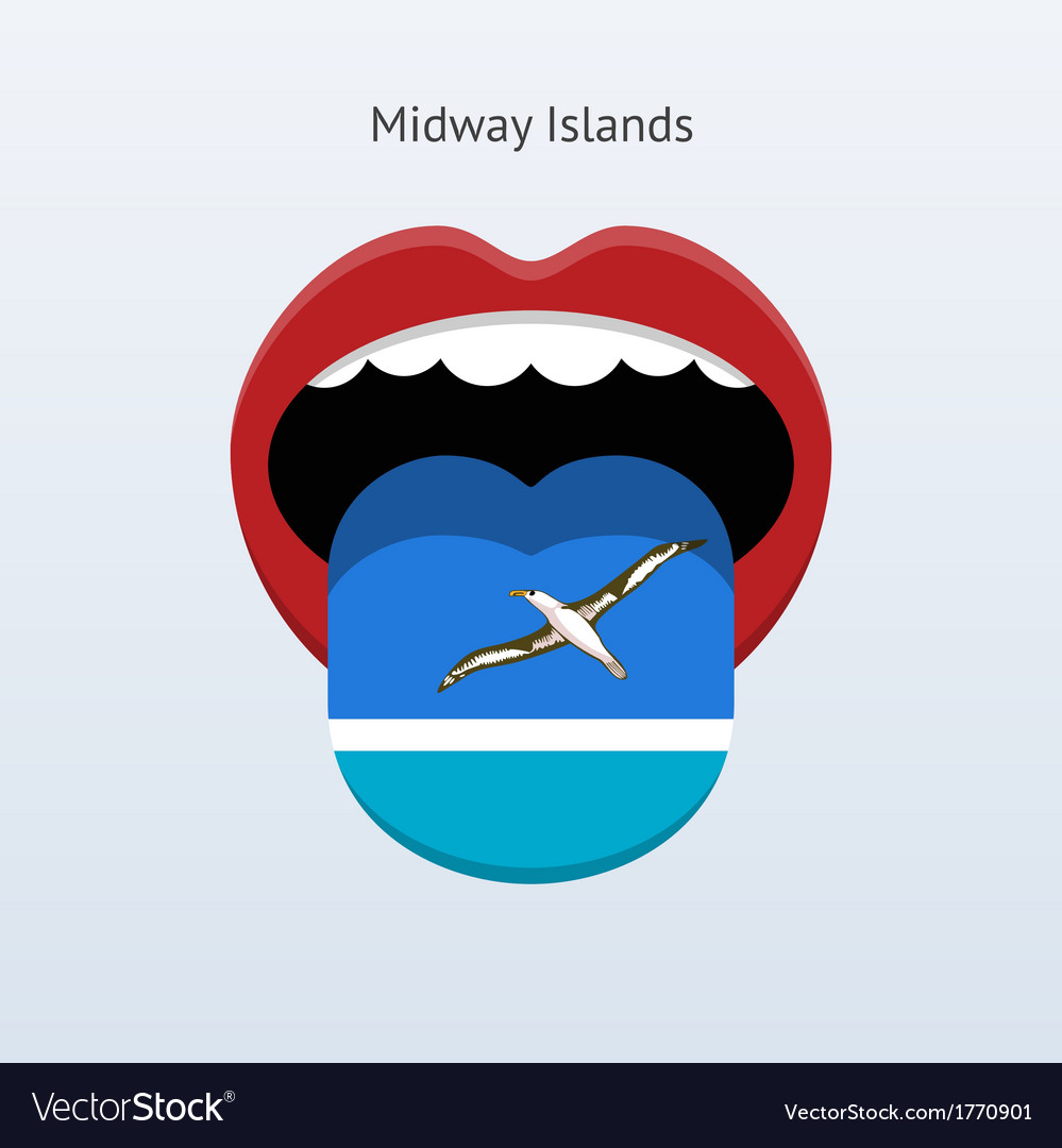 Midway islands language abstract human tongue vector | Price: 1 Credit (USD $1)