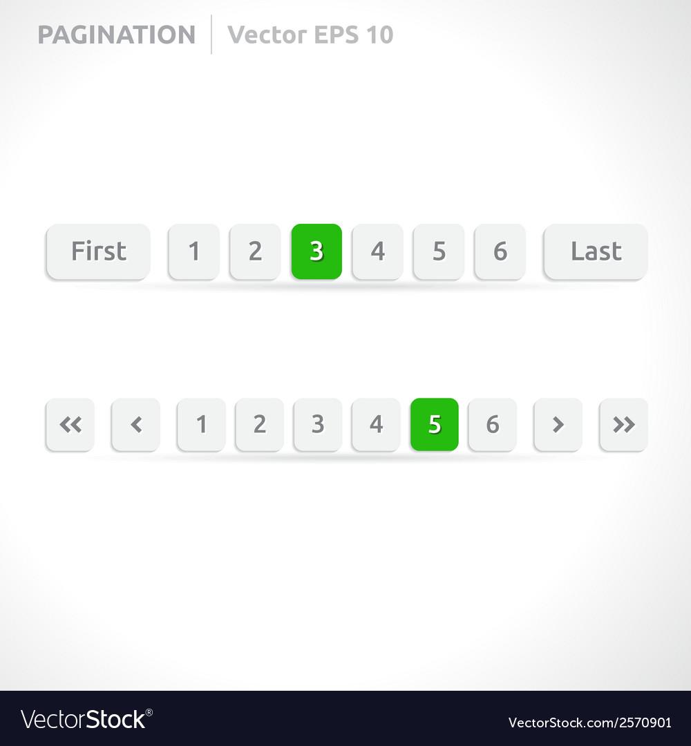 Pagination bars vector | Price: 1 Credit (USD $1)
