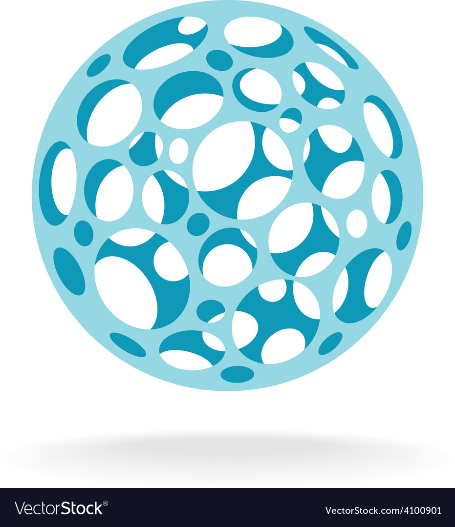 Plastic sphere with different size holes vector | Price: 1 Credit (USD $1)