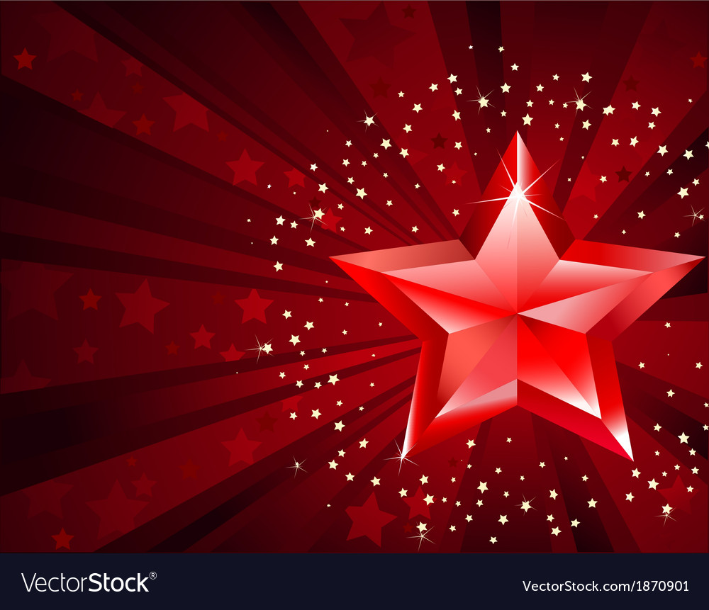 Red pure star vector | Price: 1 Credit (USD $1)