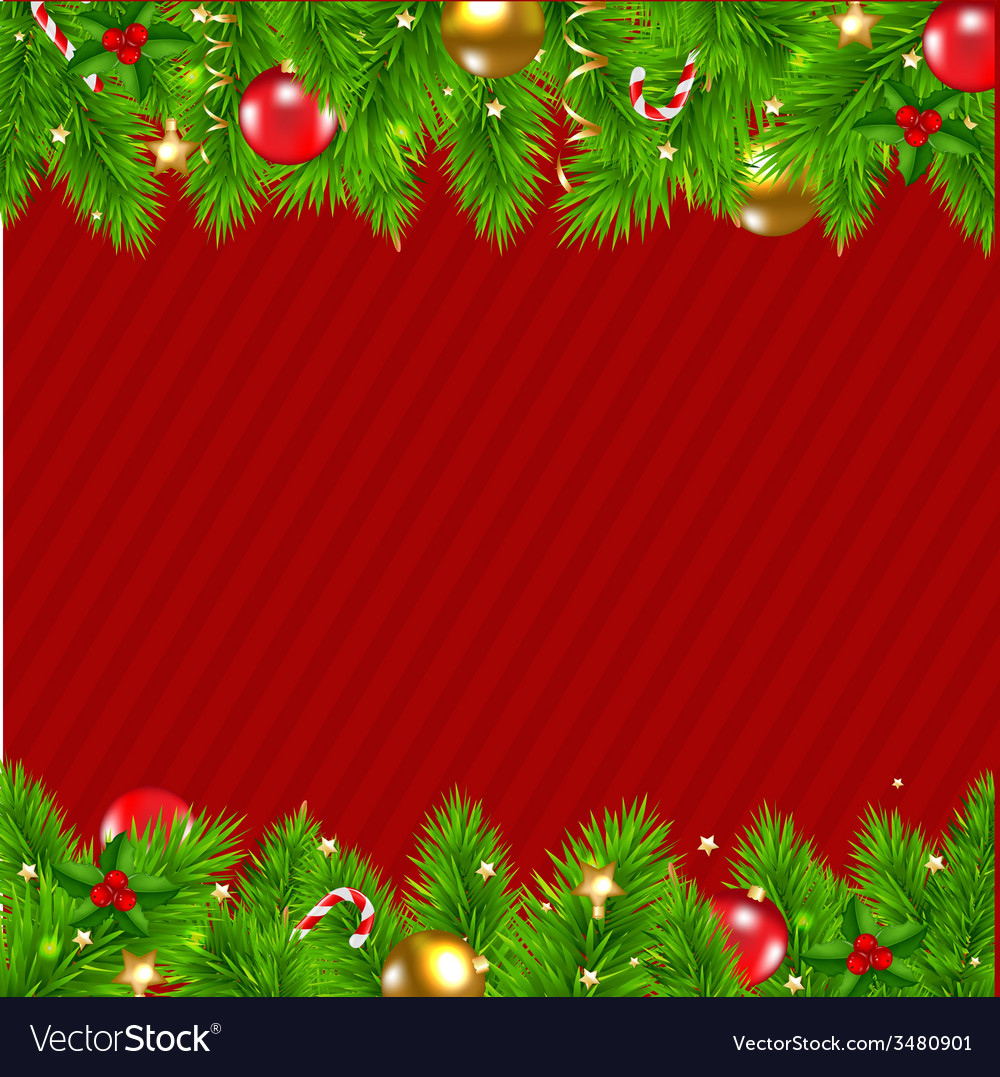 Retro red christmas wall vector | Price: 1 Credit (USD $1)