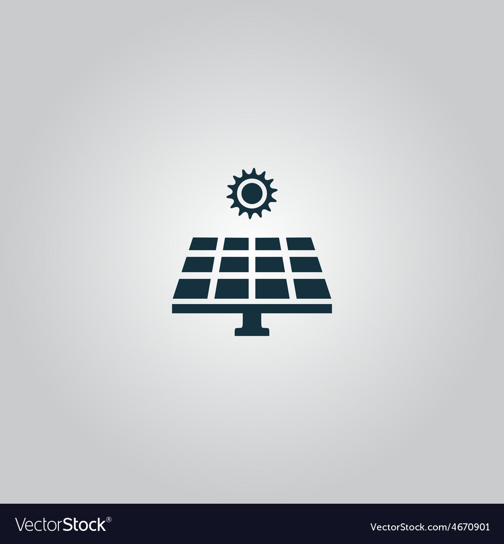 Solar energy panel vector | Price: 1 Credit (USD $1)