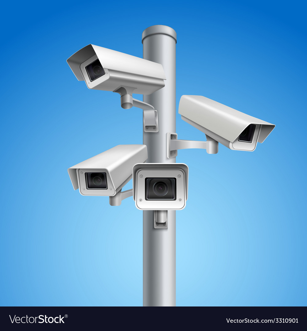 Surveillance camera pillar vector | Price: 1 Credit (USD $1)