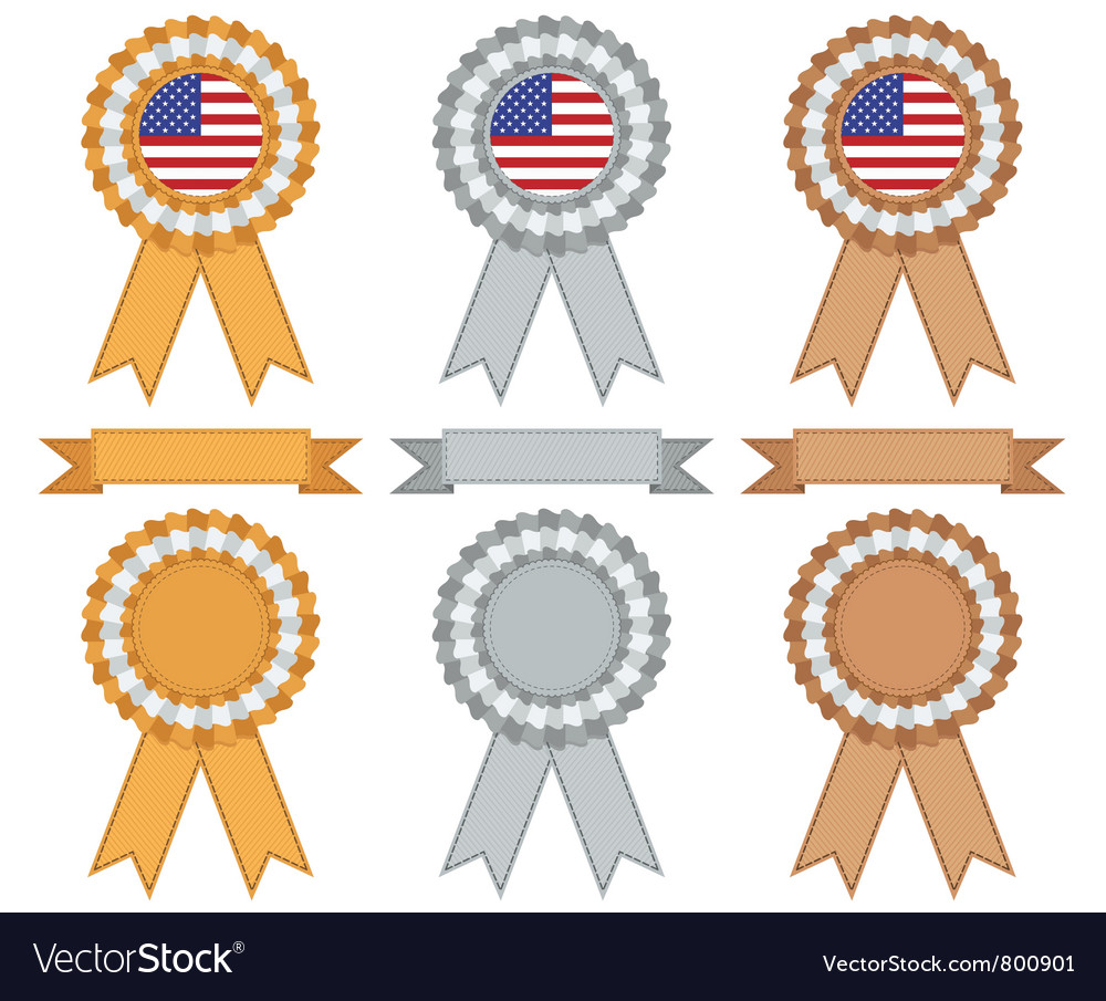 Usa gold silver and bronze vector | Price: 1 Credit (USD $1)