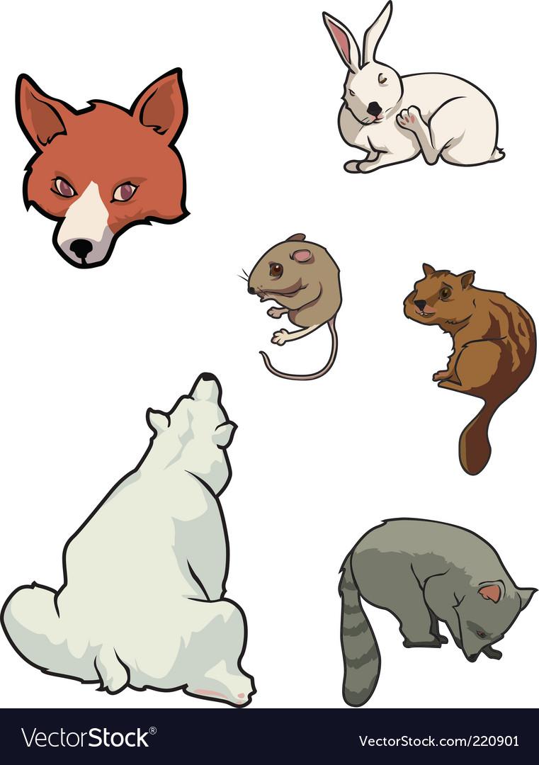 Zoo mammals vector | Price: 3 Credit (USD $3)
