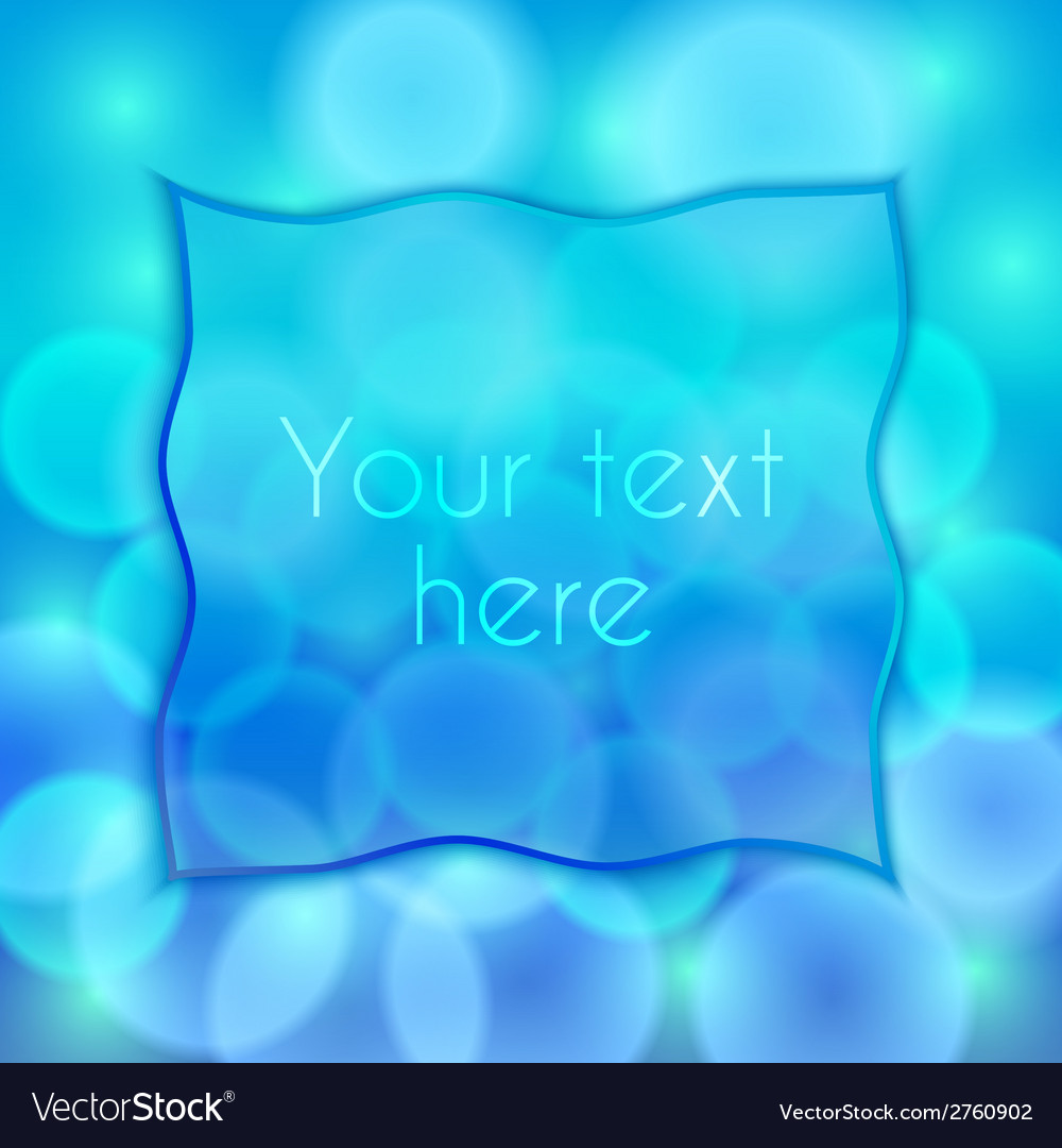 Abstract blue background with bokeh effect and vector | Price: 1 Credit (USD $1)